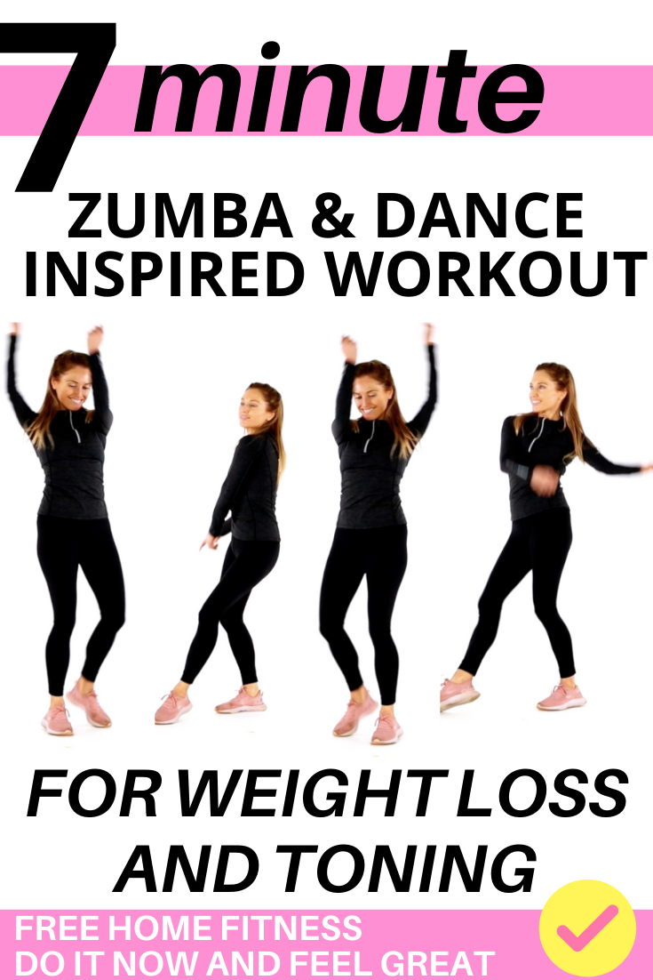 ZUMBA DANCE WORKOUT FOR BEGINNERS – EASY TO FOLLOW DANCE INSPIRED HOME EXERCISE