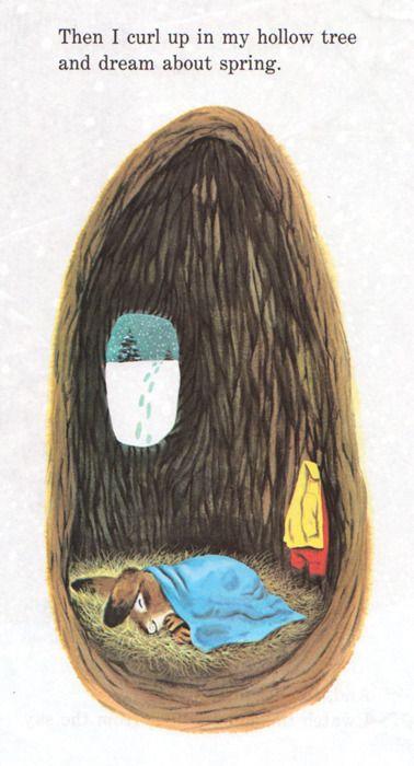 Richard Scarry, I Am A Bunny. Im Deutsch war das Buch als 'Ich bin der kleine Hase' bekannt.