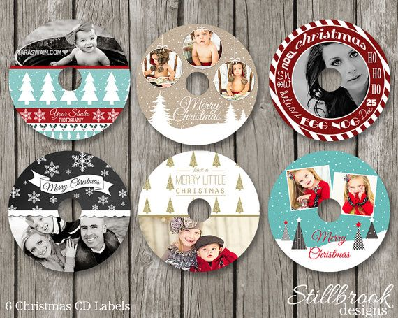 christmas photo cd labels christmas dvd label templates holiday