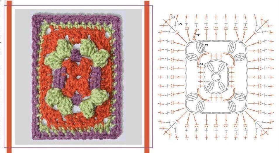 Pin de Neyda Garcia en Tejido | Pinterest | Crochet, Crochet squares ...