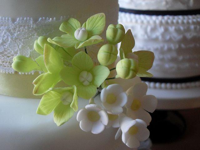 Spring Florals Wedding Cake by Sugar Ruffles, via Flickr