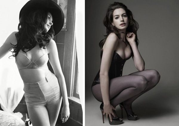 Anne Hathaway Lingerie