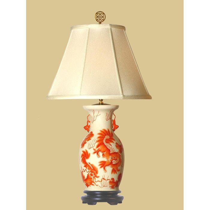 Oriental furniture foo dog 21 table lamp youll love wayfair