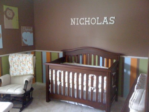 nursery idea i want to do lime green and chocolate brown stripes