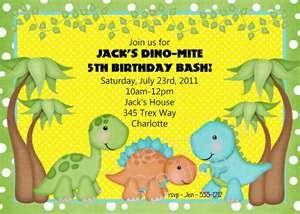 Little Baby Dinosaur Birthday Party Invitation
