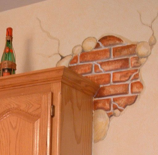 Faux Brick And Plaster Wall: Decorative Ideas