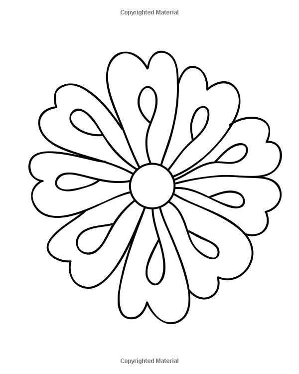 Amazon Easy Flowers Coloring Book 60 Very Simple And Basic Doodle