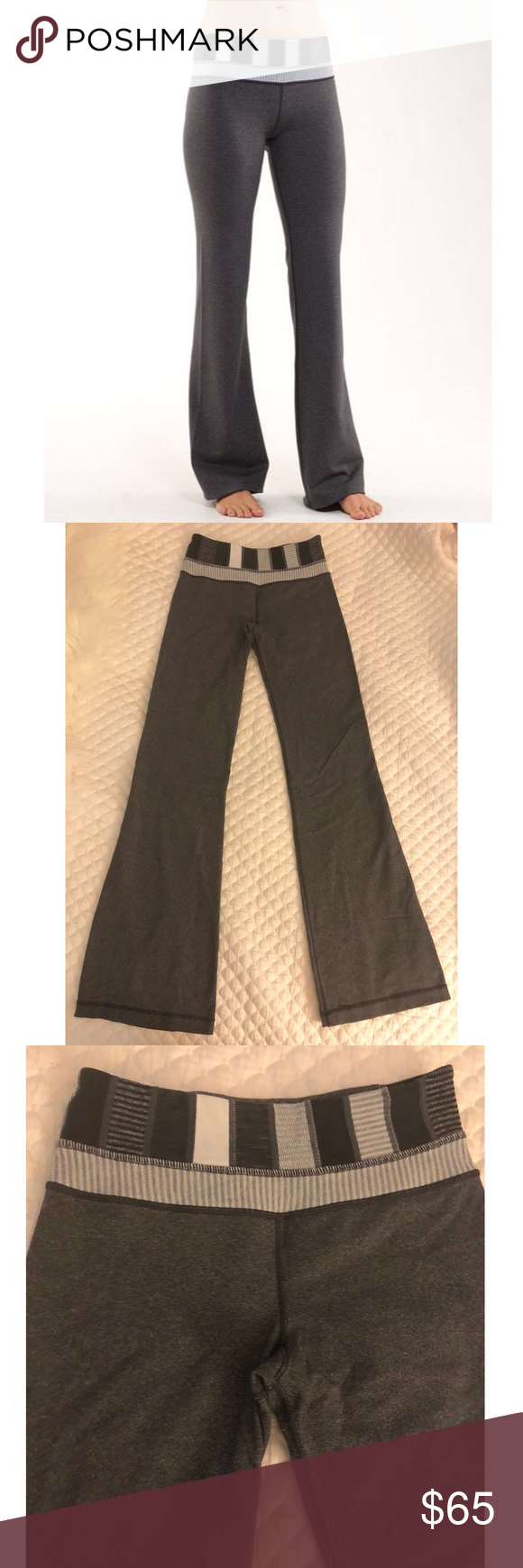 f886e745b8 Lululemon Groove Pant III Fitted bootcut yoga pants. In good used  condition. Minimal pilling if any. Comes from a smoke and pet free home.