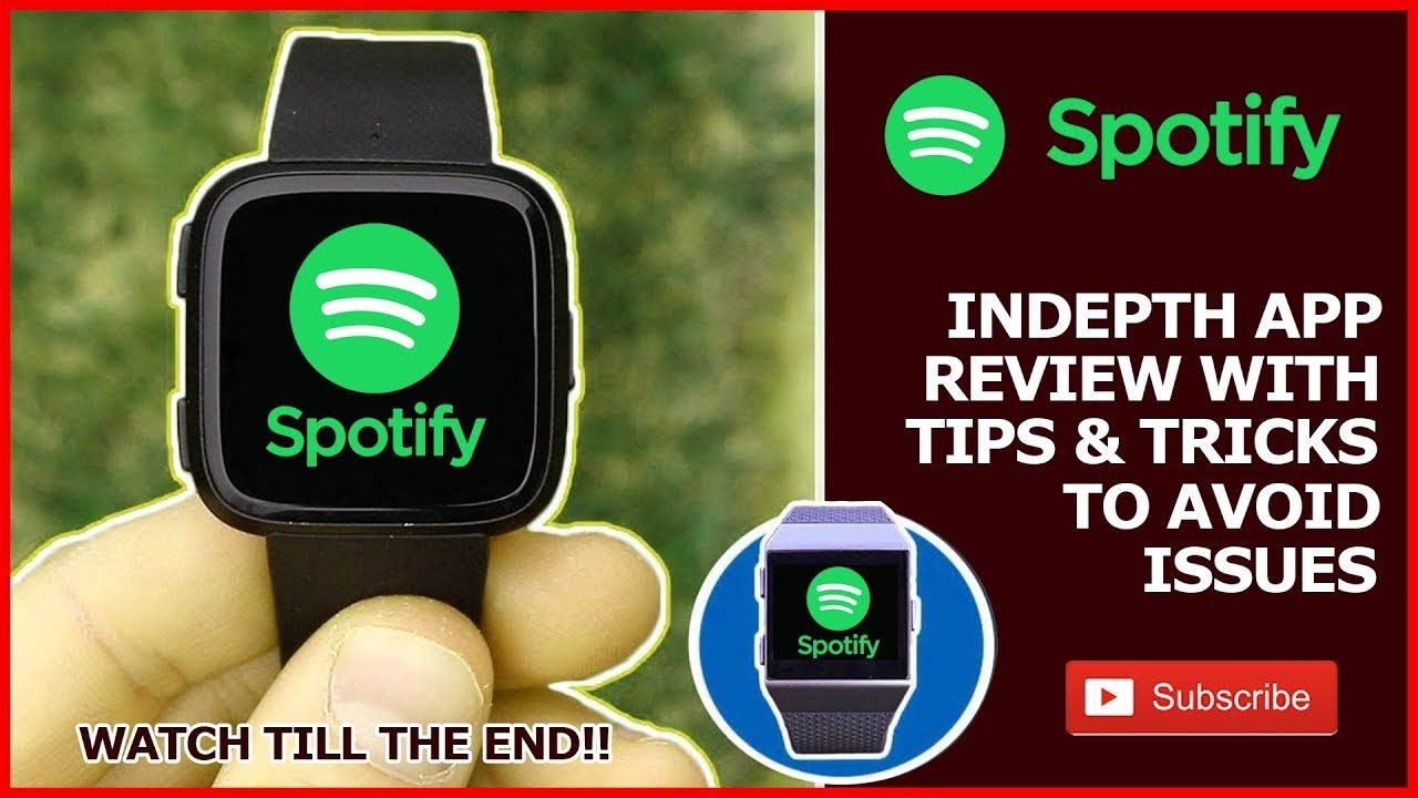 Fitbit Versa + Ionic - Spotify app review (SPOTIFY ON FITBIT
