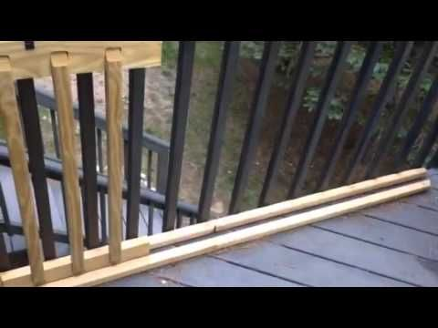 Easy Sliding Gate For Your Deck Deck Gate Sliding Gate Porch Gate