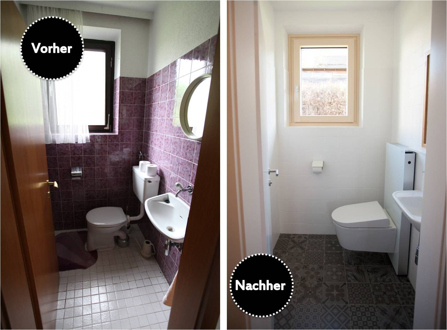 Bad Renovieren Unter 5000 Euro Wohn Projekt Before After Restroom Renew Geberit