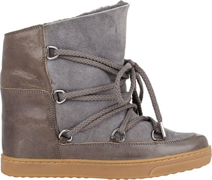 801968d9163 Isabel Marant Étoile Nowles Ankle Boots-Grey