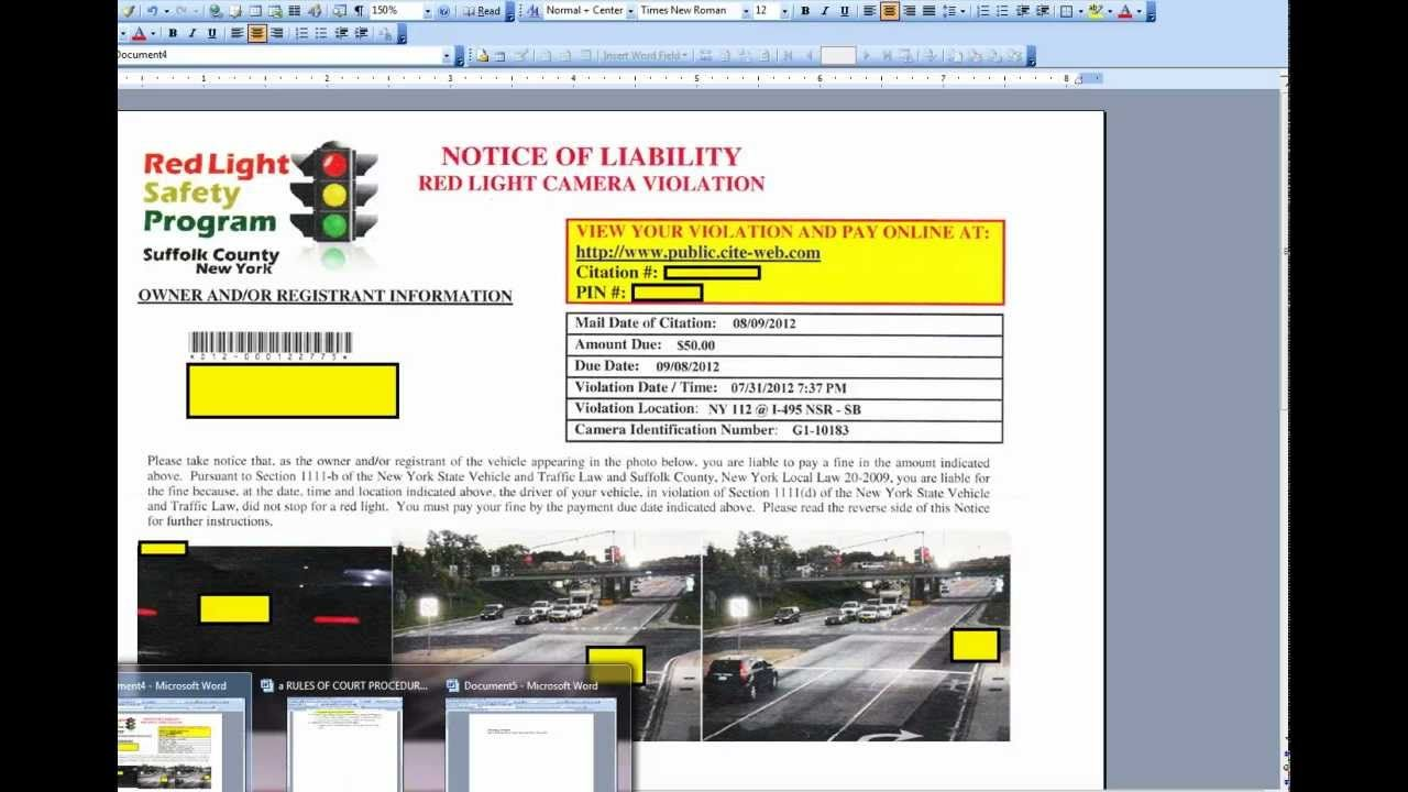 Beating Traffic Light Camera Tickets   Why It Works