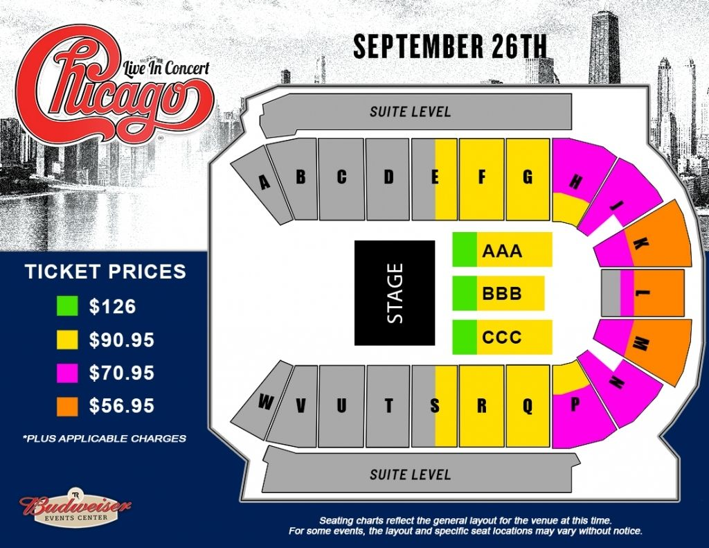 budweiser event center seating chart in 2020 Seating