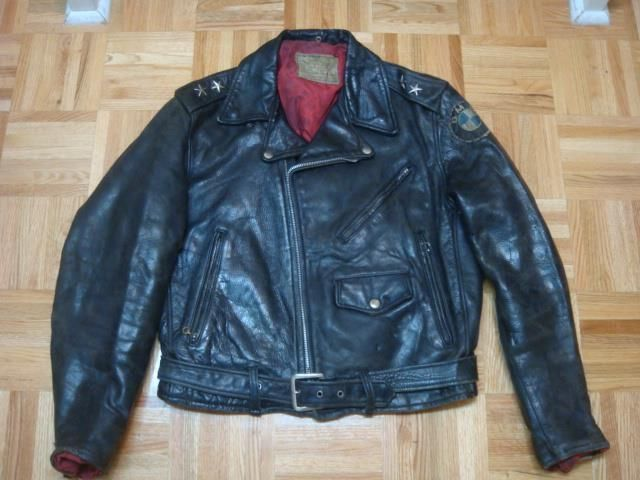 Vintage 50 Windward Horsehide Leather Motorcycle Jacket Sz 40 Leather Motorcycle Jacket Jackets Motorcycle Jacket