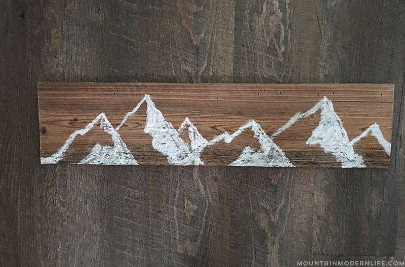 How To Make Mountain Wall Art Mountain Wall Art Art Diy Diy Art