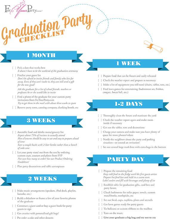 Graduationchecklist graduation ideas pinterest party graduationchecklist graduation partiesgraduation ideasparty planning checklistcreative junglespirit Image collections
