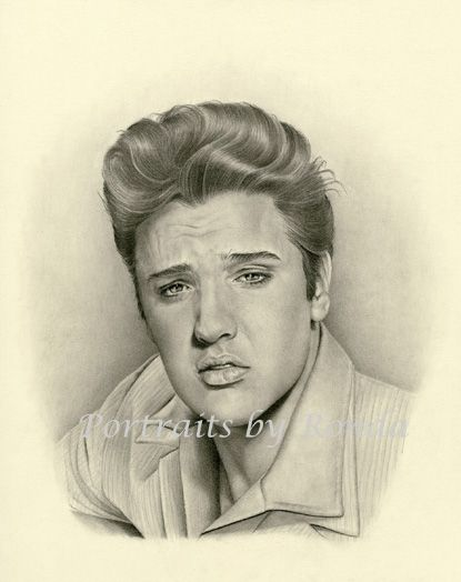 Elvis Presley by rondawest {from USA} ~ pencil portrait