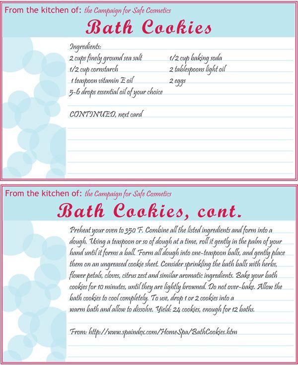 Bath Cookie Recipe Diy Home Spa Bath Recipes Diy Diy Spa