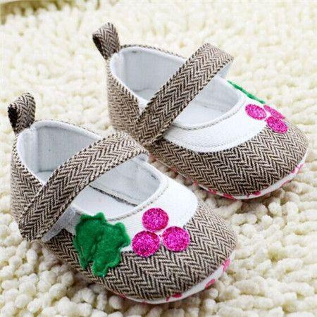 Zapatos Calzado De Bebe Para Niña Casuales con Brillantes Bebes Recién Nacidos