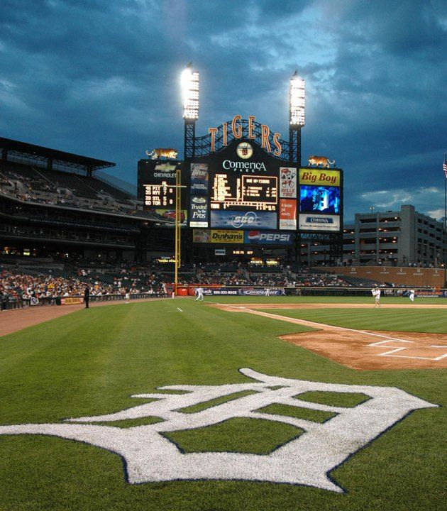 Comerica Park, 2100 Woodward Ave, Detroit, MI (home of the Detroit ...