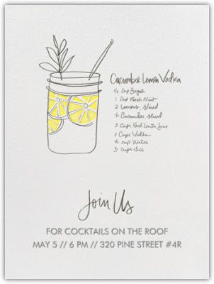 Cocktail Invites  Design    Email Invites