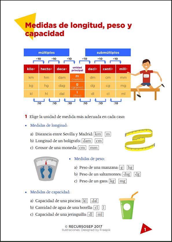 actividades-sistema-métrico-decimal-ficha-1.png (595×839) | SEGUNDO ...