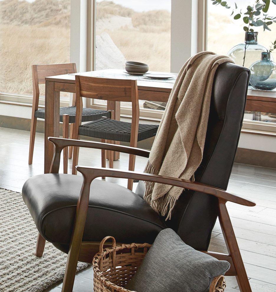 Room · Glenn Walnut Recliner Chair.