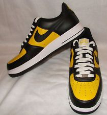 buy popular 82446 3b988 Men Nike AF-1  82 Air Force Ones Black Yellow White 11.5