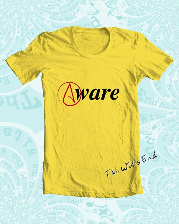 Atheist Symbol Aware Tee Shirt Hand Screened On Etsy 1800