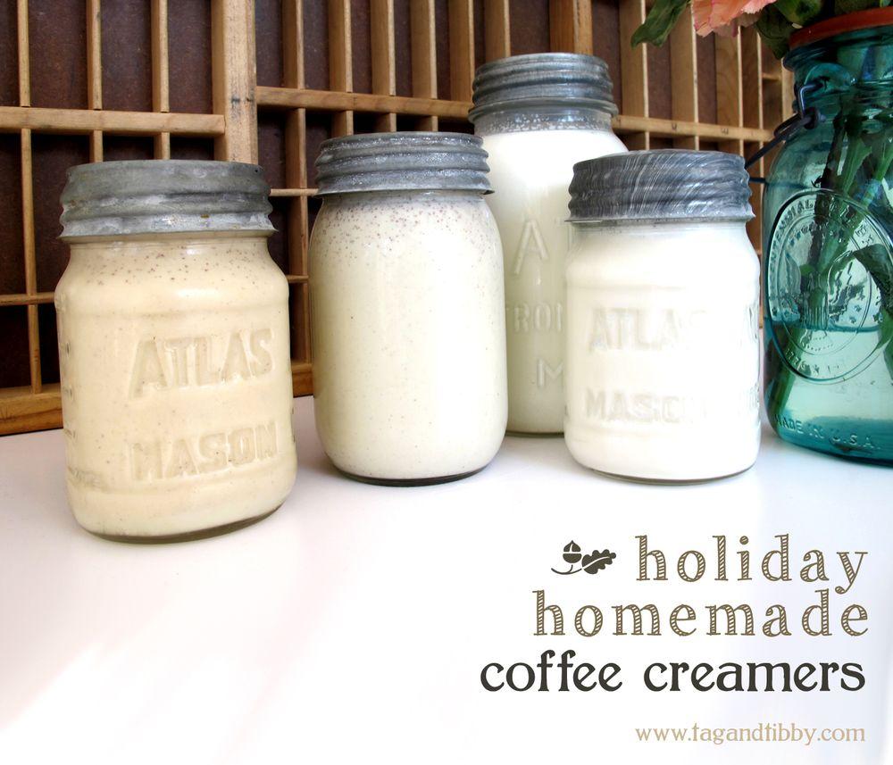 3 homemade holiday coffee creamers — Tag & Tibby Design #frenchvanillacreamerrecipe