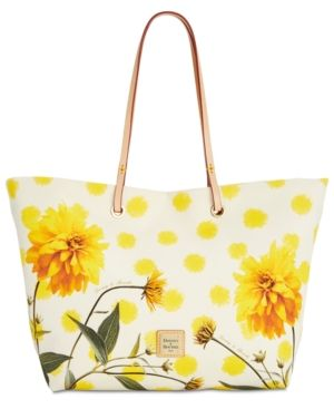 7cafb33371 Dooney & Bourke Addison Flower Medium Tote - Yellow   Products ...