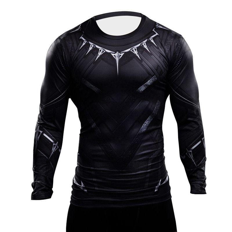 497a0bb12c565 Pantera negra Camiseta 3D Impresso Camisa Dos Homens Capitão América  Avengers homem De Ferro Guerra Civil