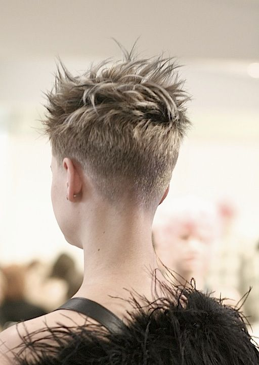 Close Cropped Nape Short Hair Styles Pixie Haircut Pixie Hairstyles