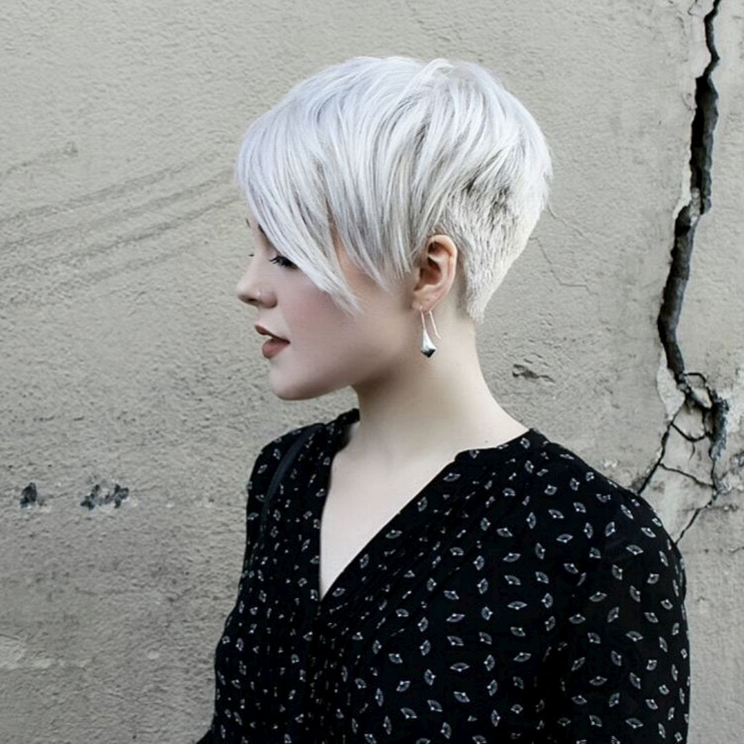 Step 1/2 Manage/Pixie: If I just continued what I have on top while the sides grow out, this could work for the top length and style