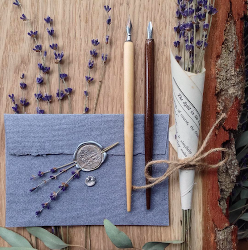 Wax Seal and Lavender Wax stamp, Wedding cards