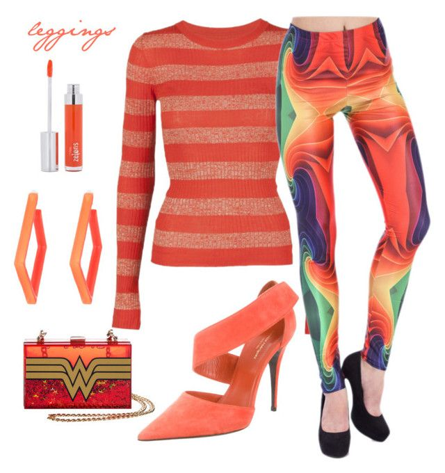 """""""legging ❤"""" by dharshanaarun on Polyvore featuring Stine Goya, Narciso Rodriguez, Alexis Bittar and Zelens"""