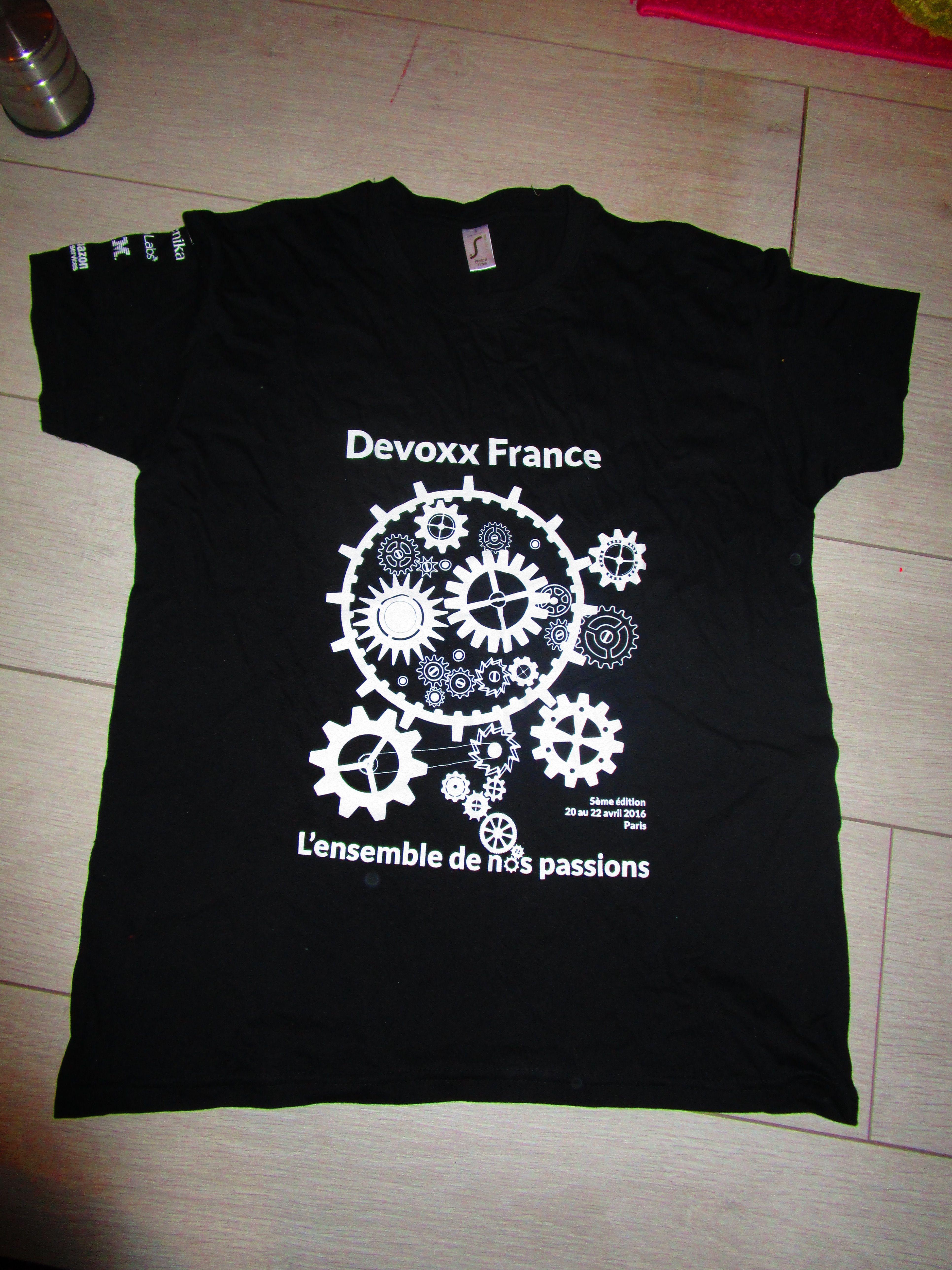 la moitié 30051 c1b14 T-Shirt personnalisé @DevoxxTM 2016 - fabrication by ...