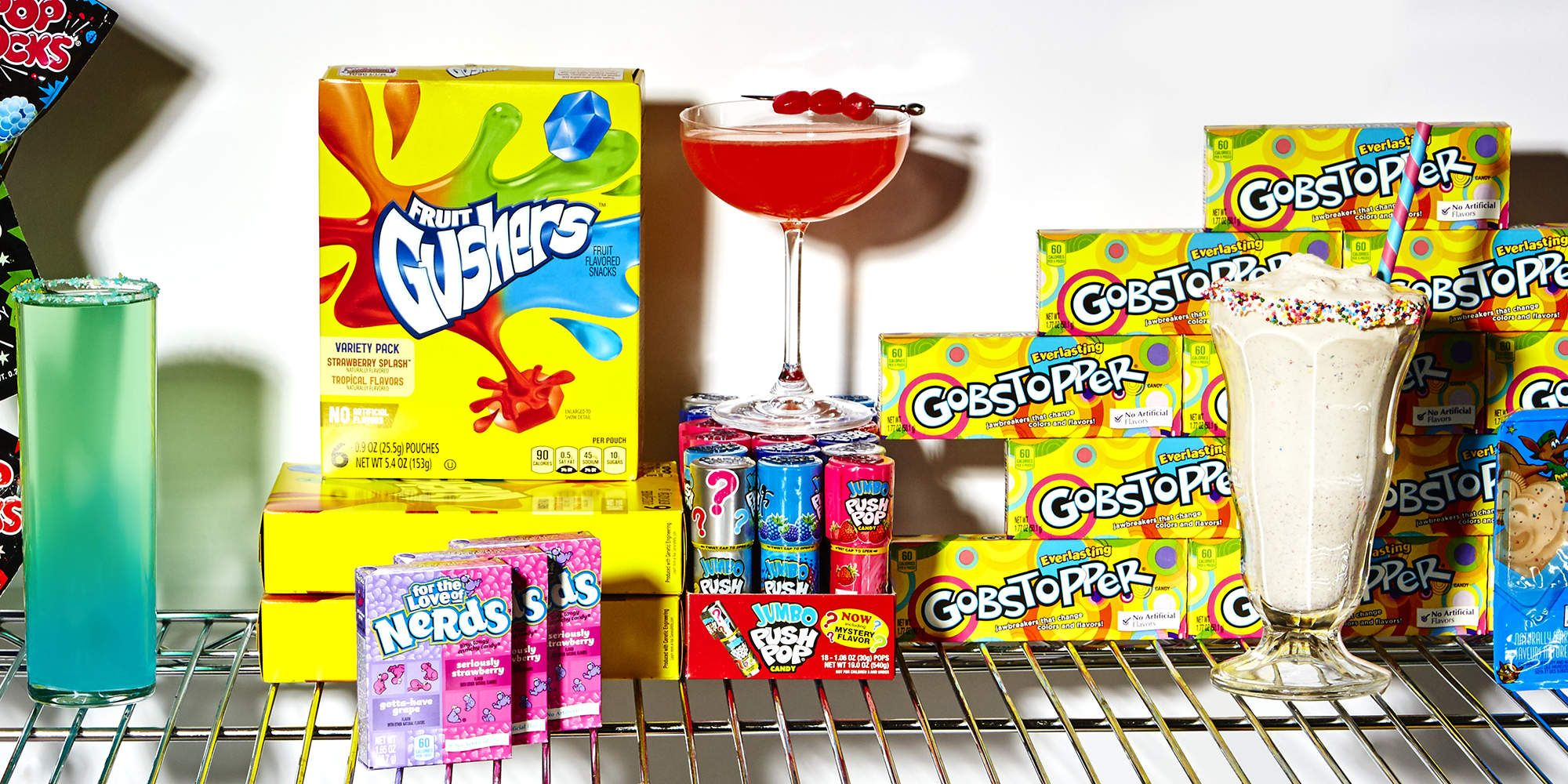 Relive Your Childhood With These 90s Candy Cocktails Candy Cocktails 90s Theme 90s Candy