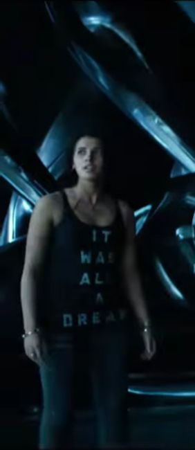"""The """"It was all a dream"""" Tank top that Naomi Scott (Kimberly Hart / Pink Ranger) wears in the movie Power Rangers (2017)."""