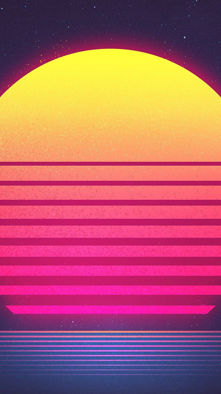 Pin By Negeen On Backgrounds Wallpapers Sun Art Retro Waves Wallpaper