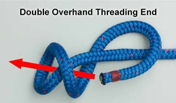 Double Overhand Threading End Knot | Knot that | Paracord