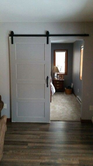 Lightly Distressed Shaker Style Barn Door Interior Barn Doors Modern Sliding Barn Door Barn Door