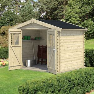 8x6 4 6m2 Mokau Apex Tongue Groove Wooden Shed With Floor Wooden Sheds Timber Garden Sheds Apex Roof