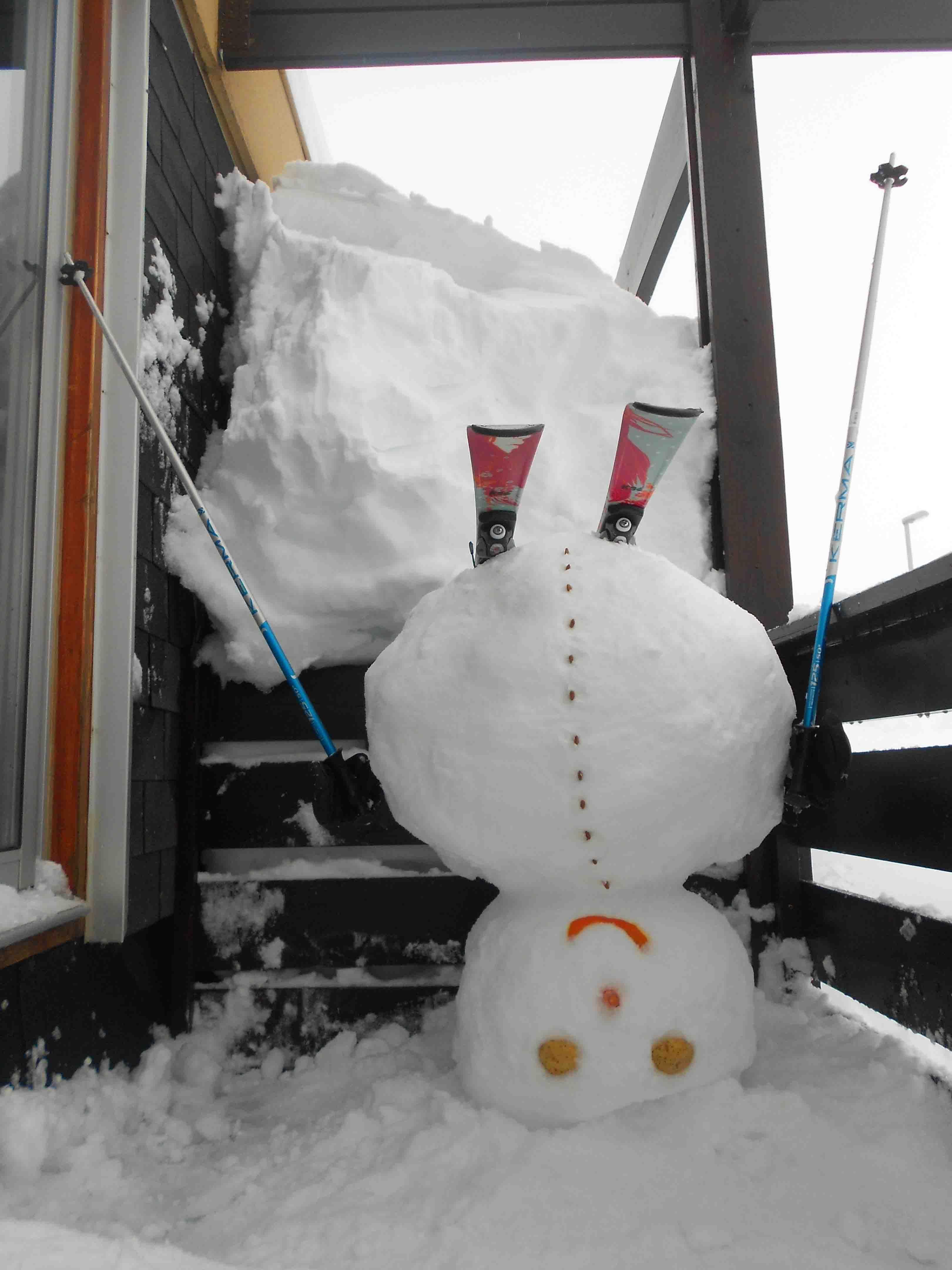 Bonhomme de neige la tête en bas. Inspiration http://pinterest.com/pin/542613455074031992/