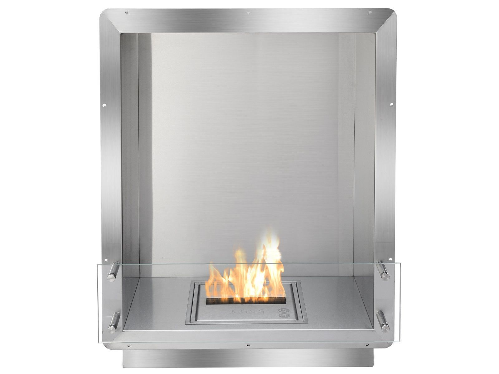 ignis ethanol firebox 28 built in single sided ventless fireplace