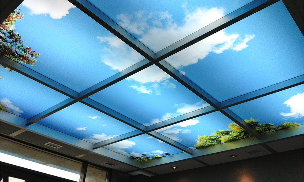 Sky Ceiling Murals Highest Quality By Drop Ceiling Lighting