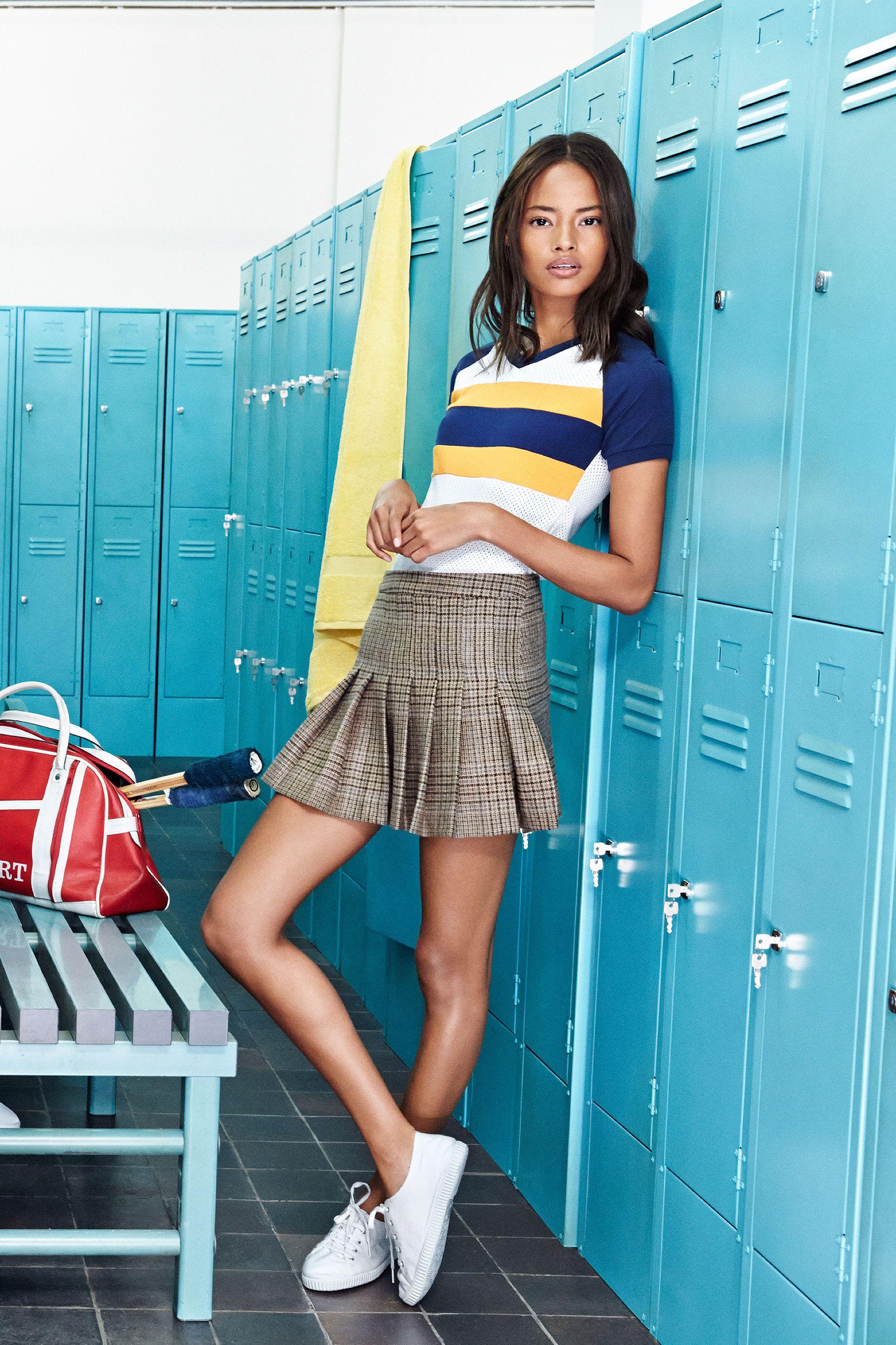 b74767b420 TRF-CAMPAIGN   ZARA - sporty top with schoolgirl pleated skirt ...
