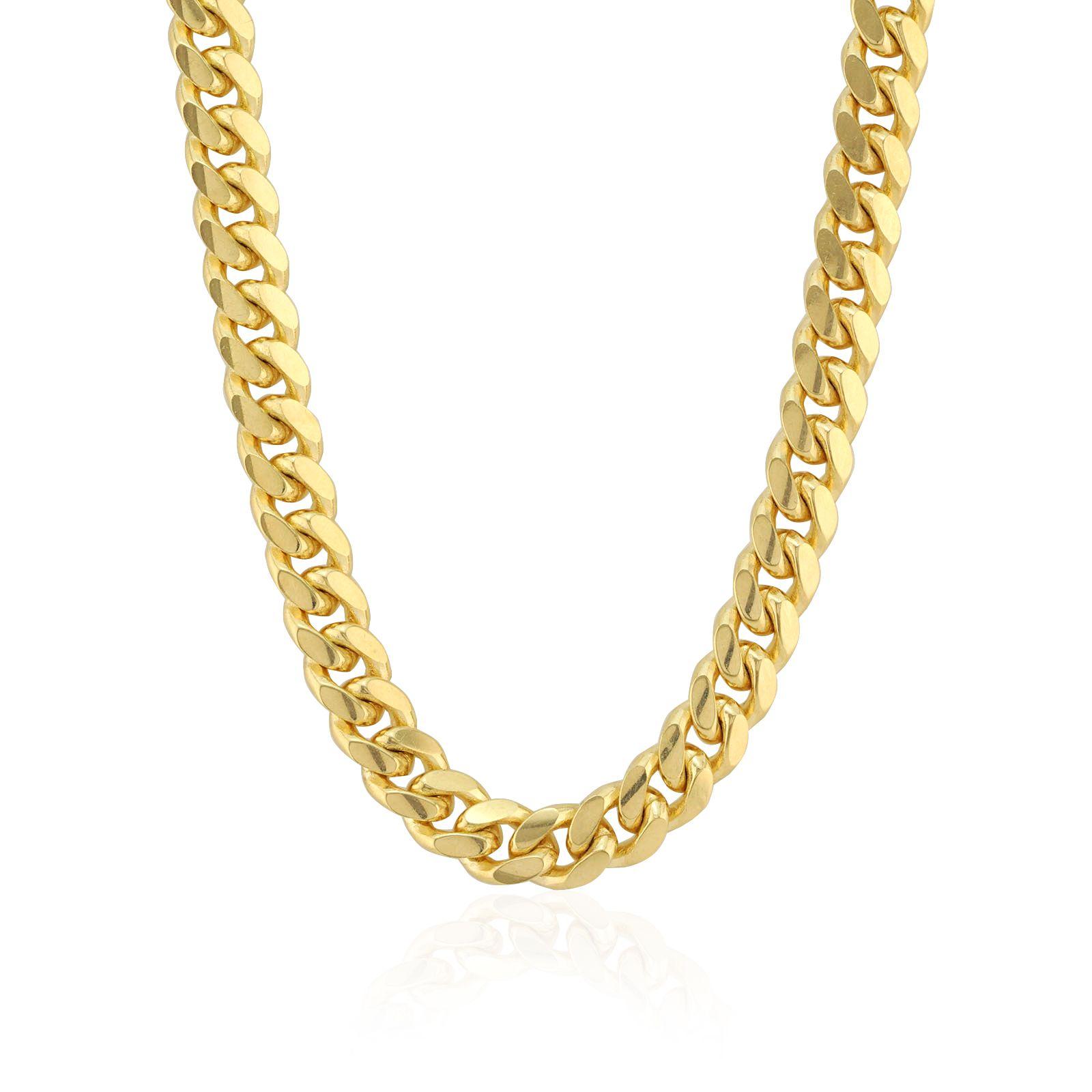 Solid 14k Yellow Gold 2 6mm Miami Cuban Chain 18 20 22 24 26 28 30 Wjd Exclusives Cuban Chain Chain Yellow Gold