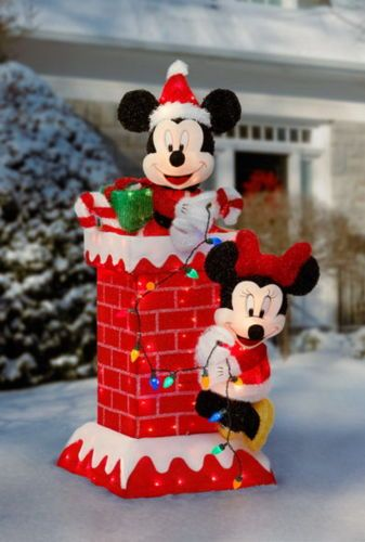 new huge 48 tall prelit mickey minnie mouse christmas outdoor decoration lights